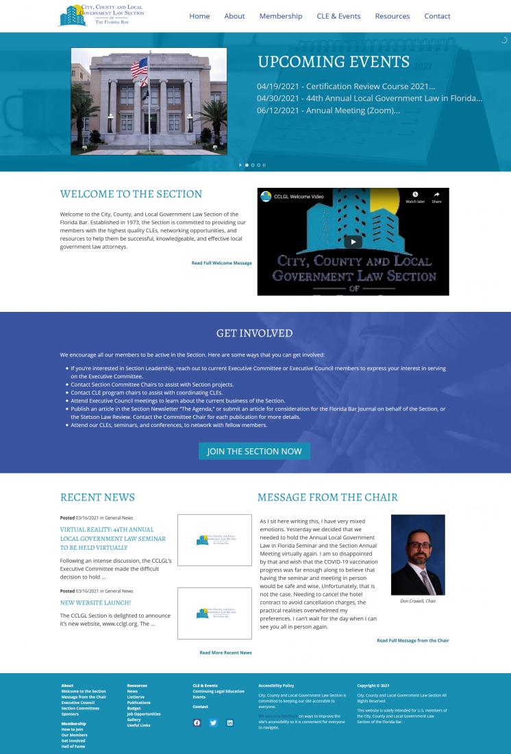 new CCLGL website screenshot